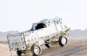 A Tapir MPV negotiating the Afghan desert